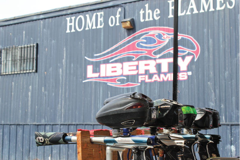 fire away — Liberty's club paintball team competed at the Class A division of the National Collegiate Paintball Association Championships April 15-17 in Kissimmee, Florida. Photo credit: Courtney Wheeler