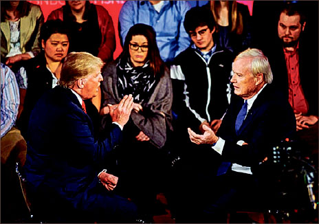 Abortion — In an MSNBC town hall, businessman Donald Trump called for punishing women who have  abortions. He later retracted his statement.  Google Images
