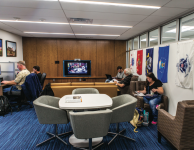 SUPPORT — Student veterans took advantage of the tools provided at the new center. Photo credit: Caroline sellers