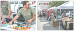 LOCAL — The market is held every Thursday at Doc's Diner, featuring vendors from Lynchburg such as Liberty's Morris Campus Farm. Photo credit: William Rice