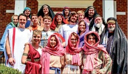 PERFORM— The King's Players performs the Easter story each year with a cast of students and alumni. Photo provided