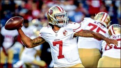 PROTEST — Colin Kaepernick sat during the national anthem. 49ers.com