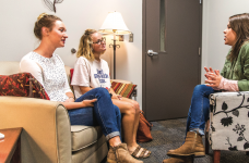 COUNSEL — LU Shepherds offer counseling to resident shepherds, so they can counsel students. Photo credit: Michela Diddle
