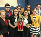 TEAM — The forensics team competes against colleges nationwide. Photo provided