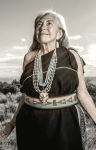 SKY — Mary Evelyn from the Pueblo of Isleta. Photo credit: Matika Wilbur