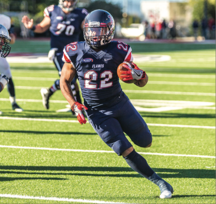 HOT — Running back Todd Macon  finished the game with 271 all-purpose yards, tied for  fifth most in one game in school history. Photo credit: Michela Diddle