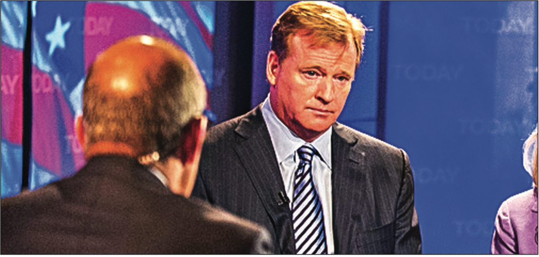commish— Roger Goodell has been criticized for his handling of Josh Brown's domestic disputes. Photo Credit: Google Images