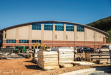 BUILD — The natatorium's construction is anticipated to be completed in 2017. Photo credit: Michela Diddle