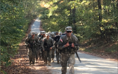 MARCH — Liberty ROTC cadets placed third out of 42 teams at the 4th Brigade Ranger Challenge Oct. 20-22.  Photo Provided