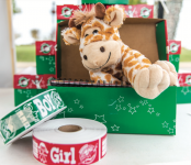 GIFT— Boxes are available at the OCC tent in the bookstore. Photo credit: Amber Tiller