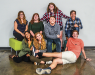 TEAM — The improv club, pictured above, formed this year.  Photo provided