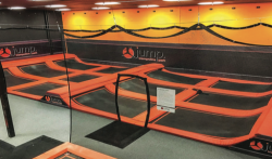 Bounce  — The new park has angled walls and a large area of connected trampolines. Photo provided.