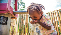 REFRESHED — Children in Liberia received clean water after fundraising the 10 Campaign and the Last Well. The organizations are growing their efforts to grow access to clean water. PC: Photo Provided by the Last Well
