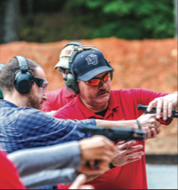 LEARN — Students and faculty learned gun safety at the current gun range. Joel Coleman  Liberty University News Service