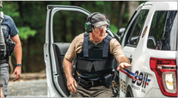 SAFETY — Liberty University police department trained at the old gun range off Candlers Mountain Road in Lynchburg, Virginia.  Photo Credit: Joel Coleman