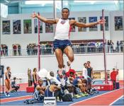 HOPS — Junior jumper Darrel Jones won the triple jump Big South title in 2016. Photo Credit: Caroline Cummings