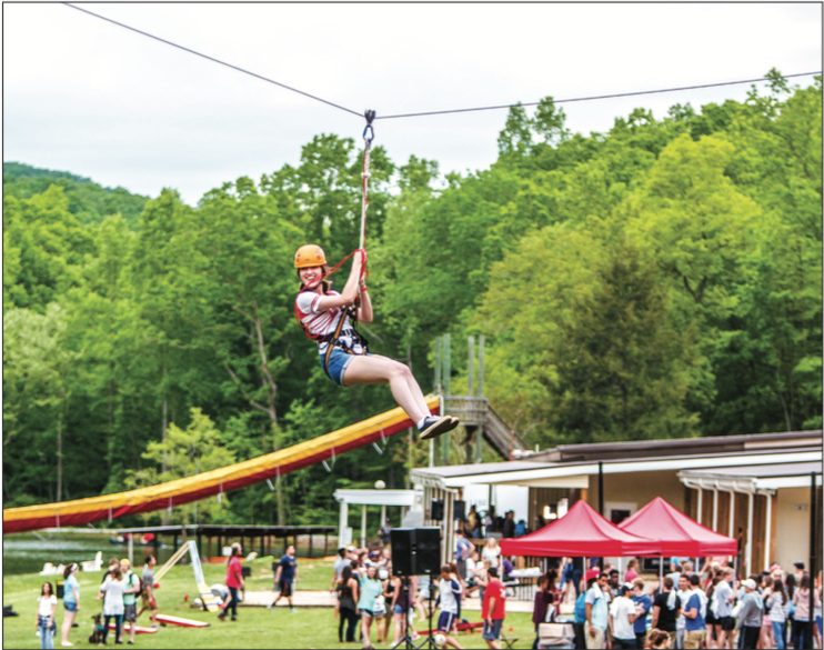 ZIP — Last spring's senior picnic took place at Camp Hydaway and included ziplining. Photo Credit: Joel Coleman