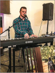 "PIANO SOLO — Performer John Shirley played music at the ""Night of Freedom"" event hosted by Freedom 4/24 and the Bean Tree Coffee Shop. Photo Provided"