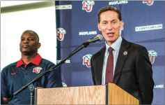 IN CHARGE — Athletic Director Ian McCaw addressed the media about the move to FBS. Photo Credit: Amber Tiller