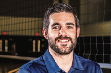 COACH — Bryan Rigg is in his  fifth season at the helm of the men's volleyball club team. Photo Credit: Leah Seavers