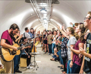 A NEW ALTAR — Tunnel Worship was created in 2014 and happens every Friday night. Photo Provided