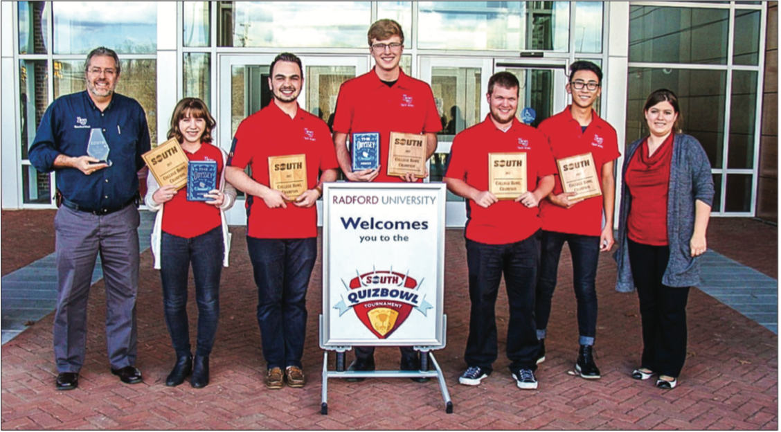 DEFENDING CHAMPS — The Quiz Bowl Team has won 10 of 12 Big South championships since quiz bowl was added to the conference. PHOTO PROVIDED