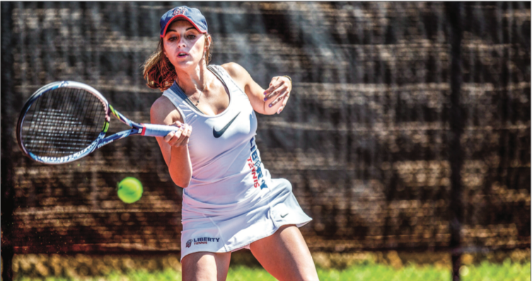 SUCCESS — Hassey has been named the Big South women's tennis player of the week twice already this spring season. Photo Credit: Kevin Manguiob