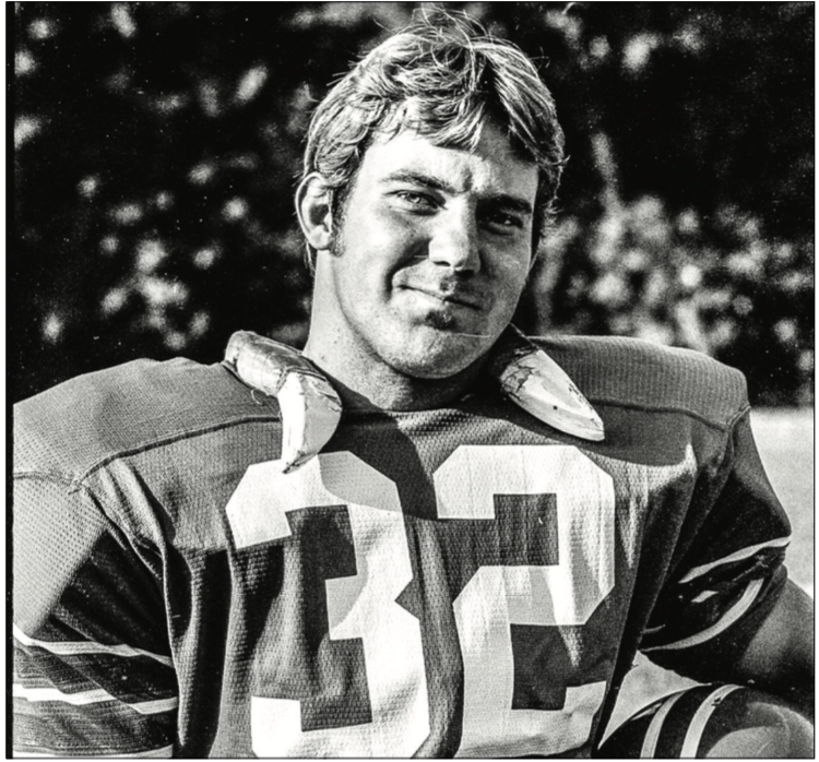 PRESTIGE — Chip Smith was Liberty football's  first team captain and MVP. Photo Credit: Les Schofer
