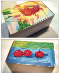 DECORATE — Each lunchbox for Garden Day is hand-painted and unique. Photo Provided