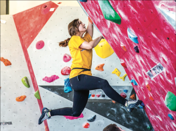 CLIMBING COMMUNITY — Liberty University Recreation provides students with various rock-climbing classes. Photo Credit: Leah Seavers