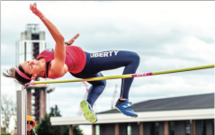 CLEARANCE — Sophomore Kylie Polsgrove recorded a collegiate personal-best high jump of 5-7.75. Photo Credit: Michela Diddle