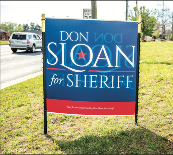 CAMPAIGN — While taking over duties for Lynchburg Sheriff temporarily, Sloan is also running for the of office. Photo Credit: Sarah Rodriguez