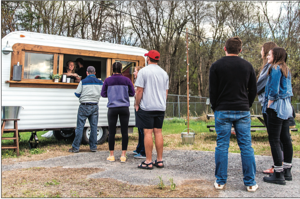 LOCATION — The Mookie's food truck is parked on Aylor's Farm in Forest, Virginia. Photo Credit: Michela Diddle