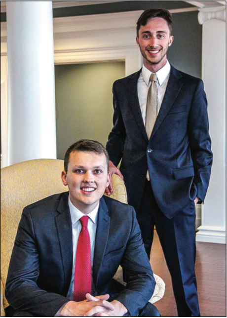 PRESIDENTS — Sophomores Johnson(left) and Cave (right). Photo Provided
