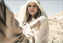 TEMPTRESS— Rebecca Lawlor played Satan in  lm about Jesus' journey in the wilderness. Photo Provided