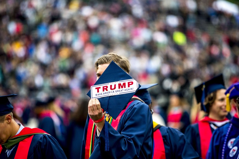 President Donald Trump chose Liberty University as the location to deliver his first commencement address as president. Photo by Dean Hinnant