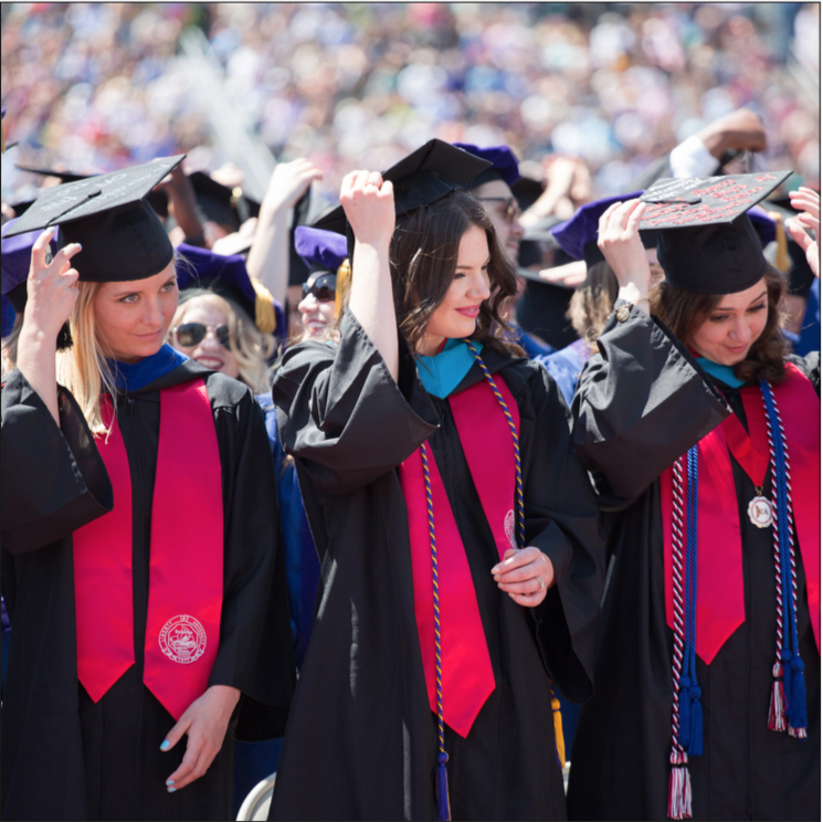 GRADUATING — Thousands of Liberty students earned spots at Commencement. Photo Credit: Mitchell Bryant