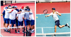 SWING—The Liberty University men's tennis team hopes to bring a championship title to the program. Head Coach Chris Johnson says the incoming recruits will greatly improve the team for future seasons. Photo Credit: Kevin Manguiob