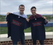 TIGHT RACE — Caleb Johnson and his running mate, Jared Cave, won the SGA election by 151 votes Friday, April 21. Photo Provided