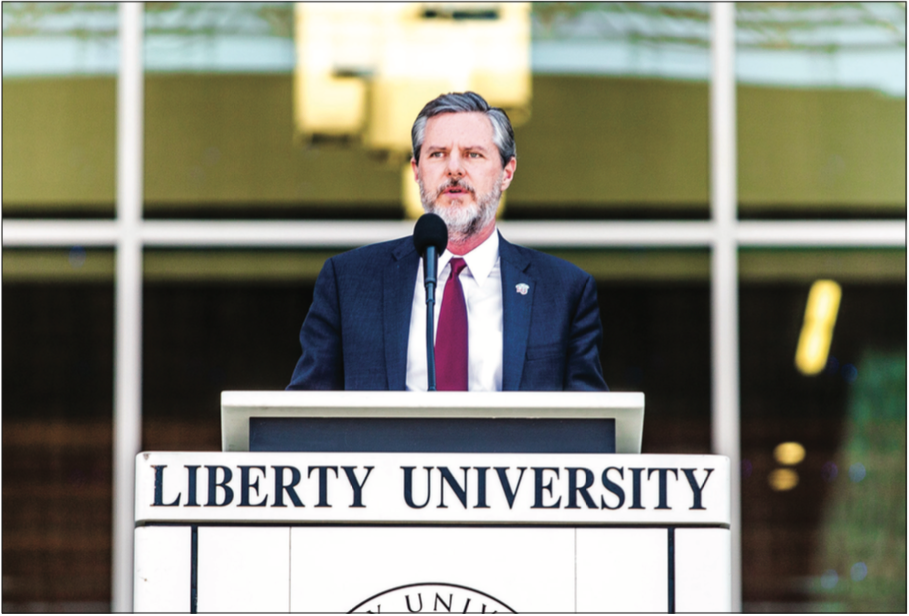 NEW MEMORIES — Falwell spoke on the growth of the university since its early days when he attended Convocation in a circus tent. Photo Credit: Michela Diddle