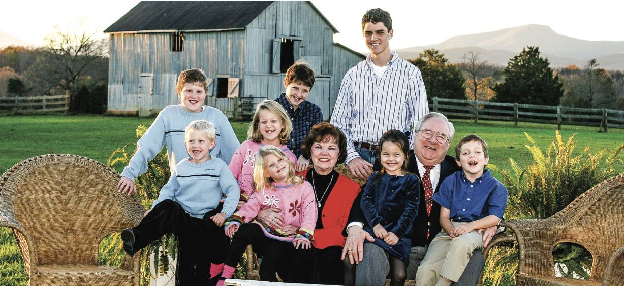 Jerry and Macel Falwell pose at the Falwell farm with their grandchildren Nov. 6, 2004. Photo Credit: Todd Hunley