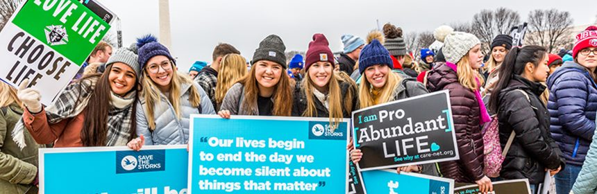 People travel from around the country for the March for Life rally