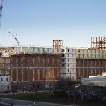 Liberty's Residential Commons I takes shape.