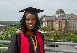 Maureen Mutisya of Nairobi, Kenya, recently graduated with her M.B.A. in accounting, after already earning her undergraduate degrees in business management and aeronautics from Liberty.