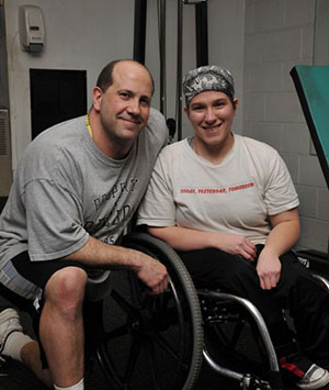 Chelsi Figley (right) with her trainer Brian Raneri