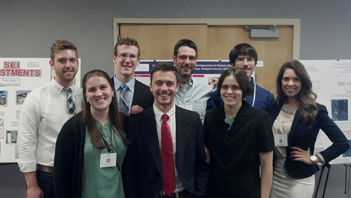 A Liberty University research team at the VAS.