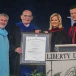 Shannon Bream receives her honorary doctoral degree.