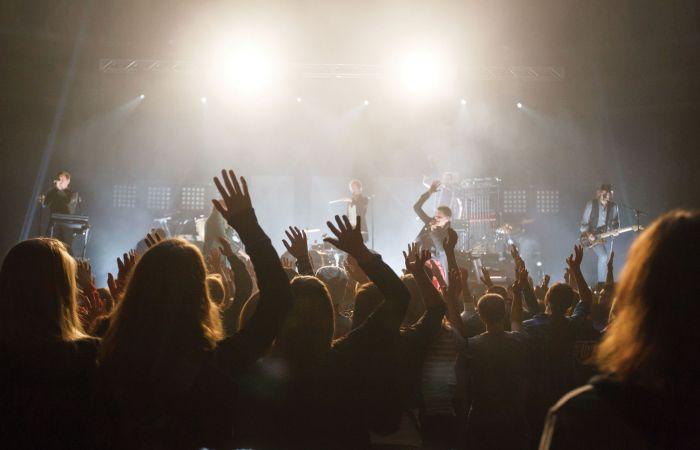 A concert at Liberty University.