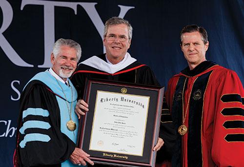 Ronald Hawkins, Jeb Bush, Jerry Falwell