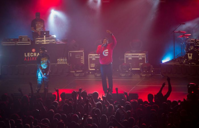 A Lecrae concert at Liberty University.